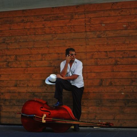 un musicista in pausa